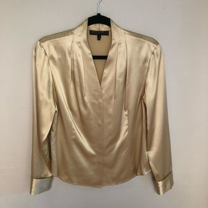 Lafayette 148 NY 100% Silk Hidden Button Up Blouse